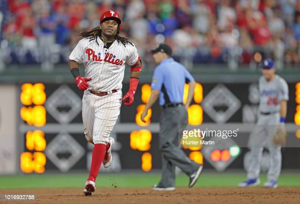 Maikel Franco of the Philadelphia Phillies during a game against the Los Angeles Dodgers at Citizens Bank Park on July 23 2018 in Philadelphia...