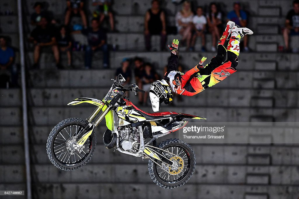 Maikel Melero of Spain competes during qualifying for Red Bull X Fighter on June 23, 2016 in Madrid, Spain.