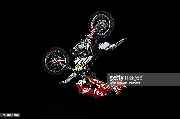 Maikel Melero of Spain rides during the Red Bull XFighters World Tour 2015 on October 29 2015 in Abu Dhabi United Arab Emirates