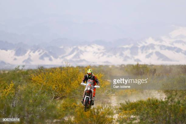 Maikel Smits of the Netherlands and BAS Dakar rides a KTM 450 Rally bike in the Classe 21 Super Production during stage eleven of the 2018 Dakar...