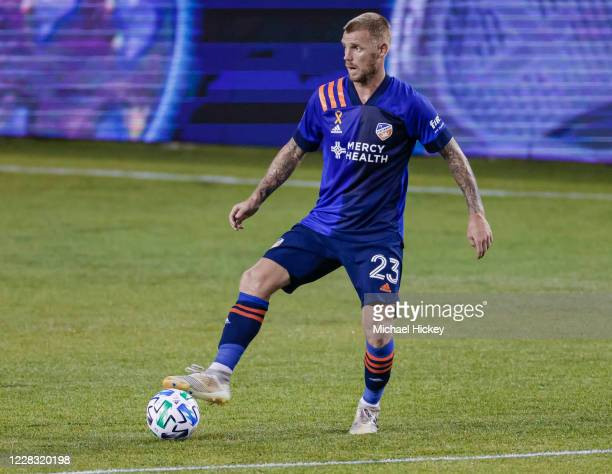 Maikel van der Werff of FC Cincinnati controls the ball during the game against the Chicago Fire at Nippert Stadium on September 1, 2020 in...