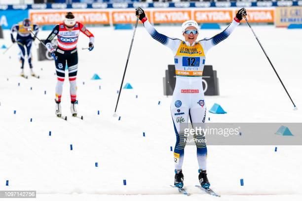 Maiken CaspersenFALLA wins Ladiess FIS Cross-Country Sprint Final at Lahti Ski Games in Lahti, Finland on 10 February 2019.