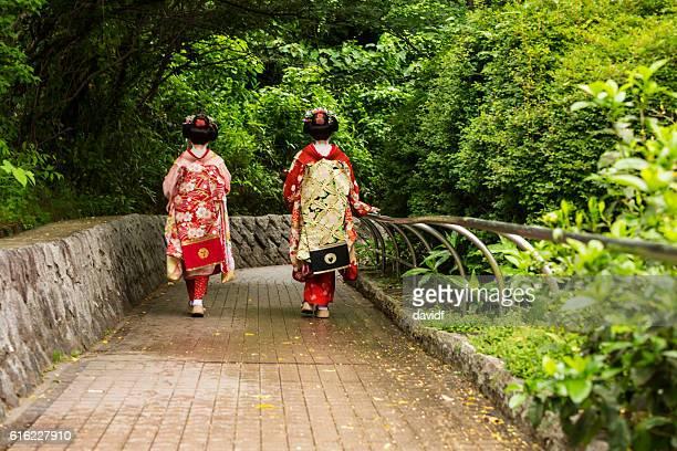 板井 見習い 芸者日本の伝統的な着物