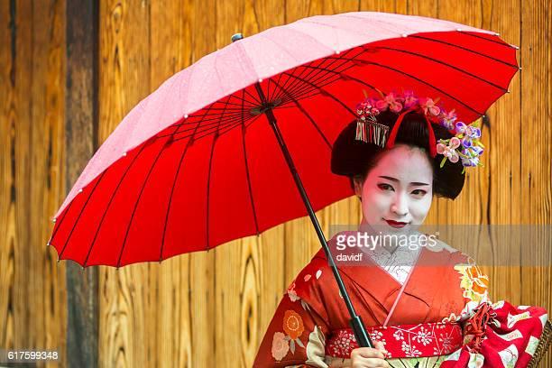 Maiko Apprentice Geisha Japanese Women In Traditional Kimonos