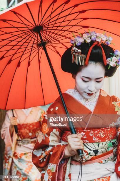 Maiko Mädchen in Kyoto