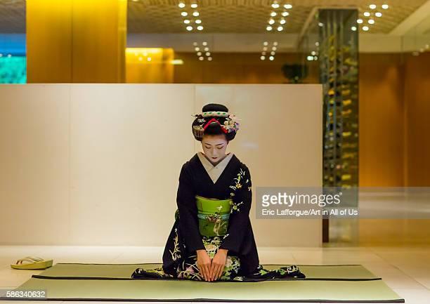 Maiko in hayatt hotel hall kansai region kyoto Japan on May 27 2016 in Kyoto Japan