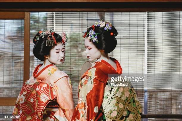 Maiko Women Together in Kyoto