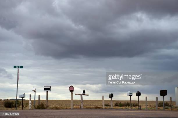 Mail box at old 66 route near Holbrook, Arizona state, USA