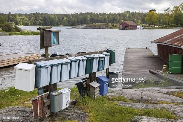 Mail boxed at sea