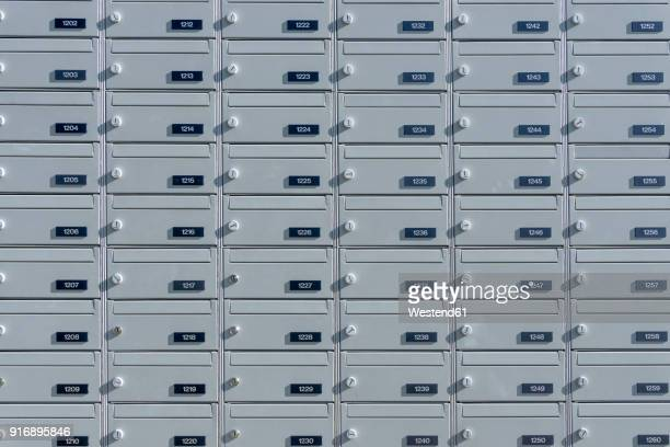 mail boxes, numbers - mailbox stock pictures, royalty-free photos & images