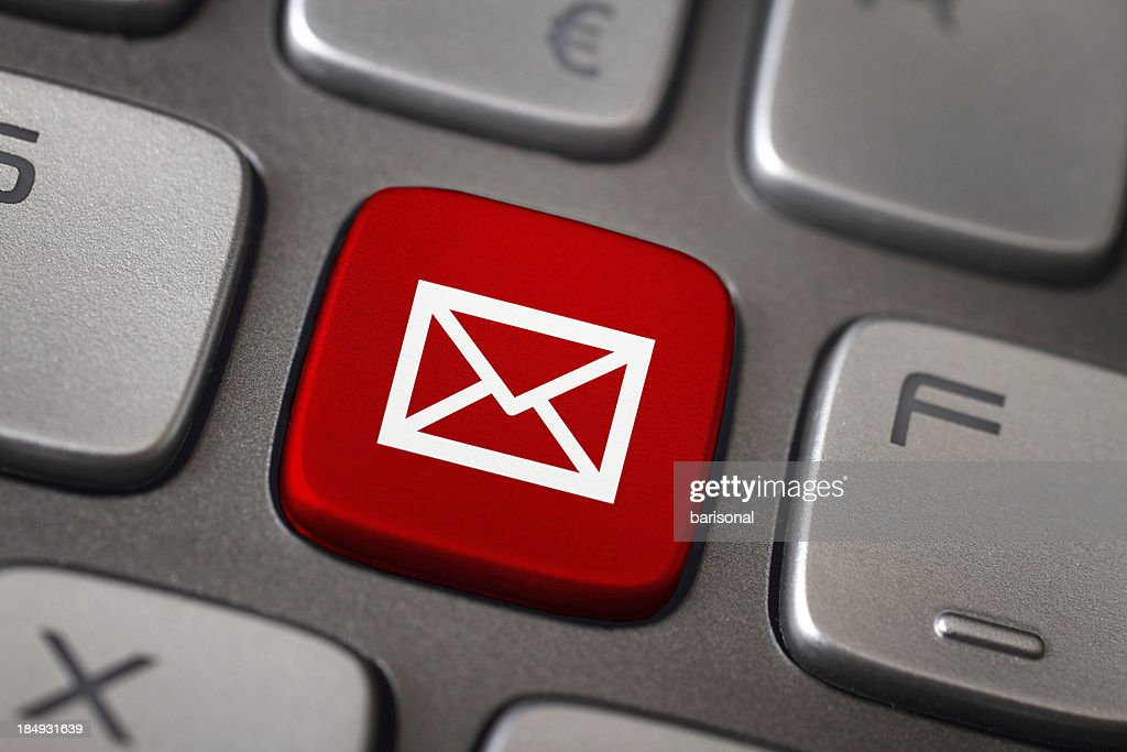 Mail button : Stock Photo