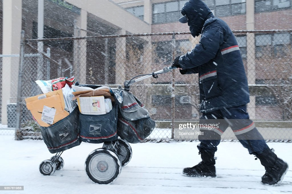 Storm Brings Snow, Sleet, And High Winds To Mid Atlantic Region On Second Day Of Spring : News Photo