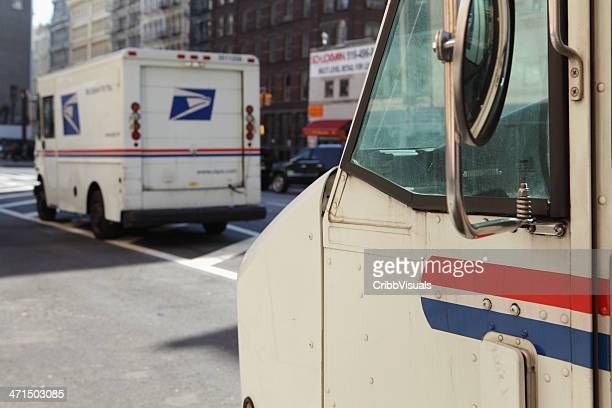 USPS mail delivery vans trucks NYC