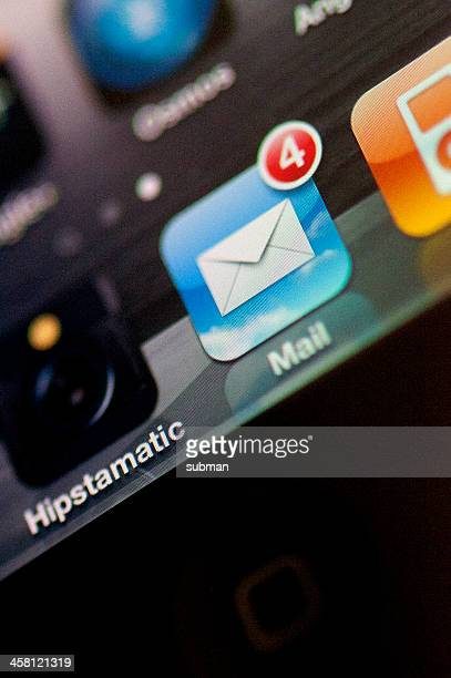 Mail icon on an iphone