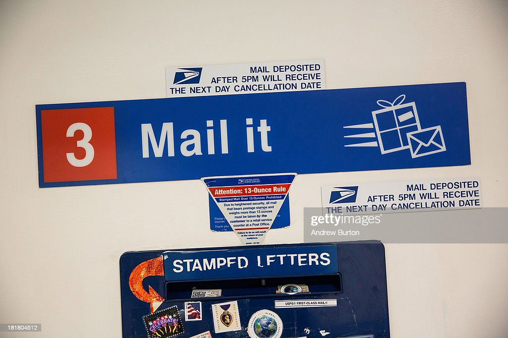 A Mail Slot For Stamped Letters Is Seen At A United States Post Office On  September