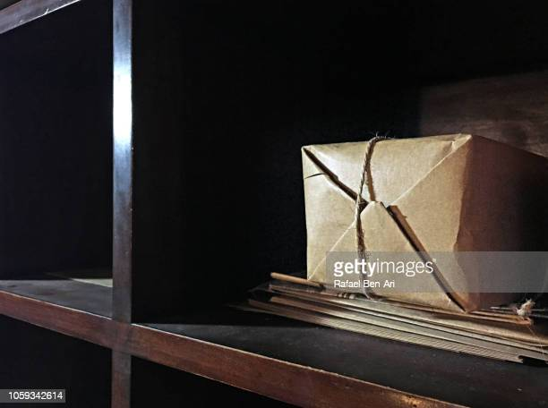 mail sorting office station with parcels - rafael ben ari stockfoto's en -beelden