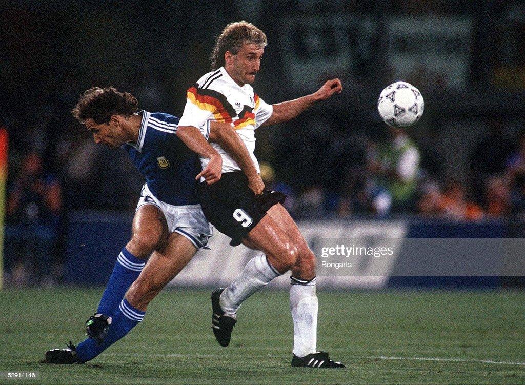 Mailand 08 07 90 Deutschland Fussballweltmeister 1990