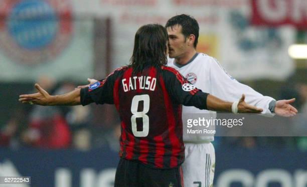 LEAGUE 02/03 Mailand AC MAILAND FC BAYERN MUENCHEN 21 Gennaro GATTUSO/MAILAND Willy SAGNOL/BAYERN