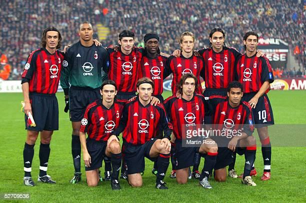 LEAGUE 02/03 Mailand AC MAILAND FC BAYERN MUENCHEN 21 TEAM AC MAILAND hintere Reihe vlnr Paolo MALDINI Torwart DIDA Kakha KALADZE Clarence SEEDORF...