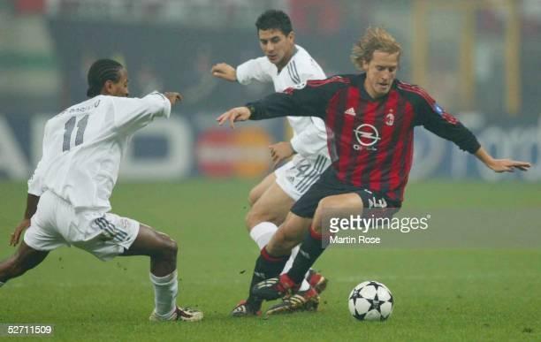LEAGUE 02/03 Mailand AC MAILAND FC BAYERN MUENCHEN Ze ROBERTO Claudio PIZARRO/Bayern Massimo AMBROSINI/Mailand