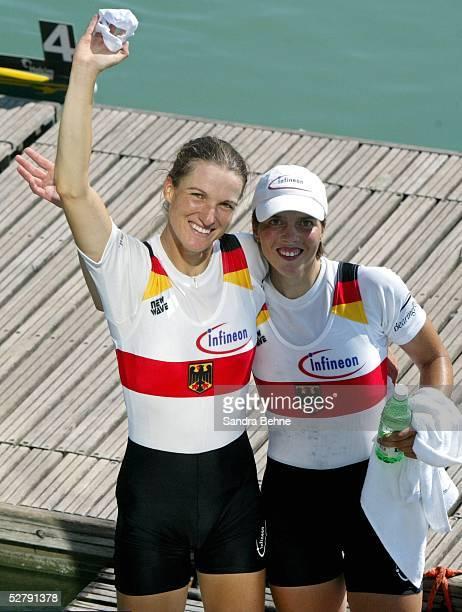 WM 2003 Mailand Frauen/Doppelzweier Finale Jubel GER Team MarieLouise DRAEGER Claudia BLASBERG