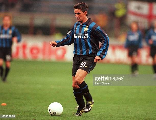 Mailand INTER MAILAND MANCHESTER UNITED 11 Roberto BAGGIO/Inter Mailand