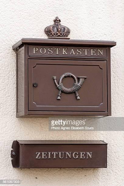 Mailbox and newspaper holder box