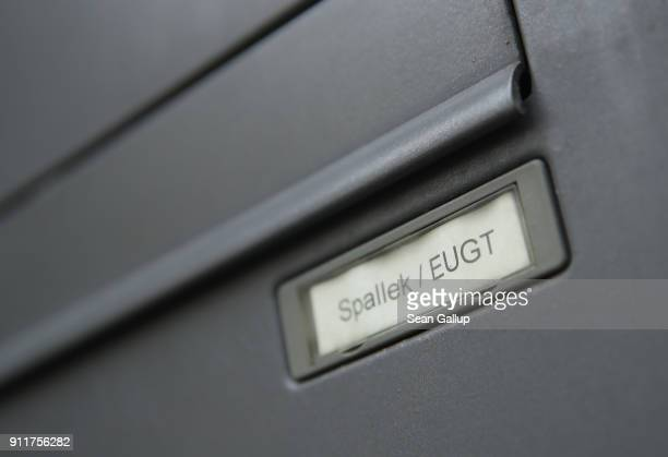 A mailbox for Michael Spallek head of the European Research Group on Environment and Health in the Transport Sector hangs on the exterior of an...
