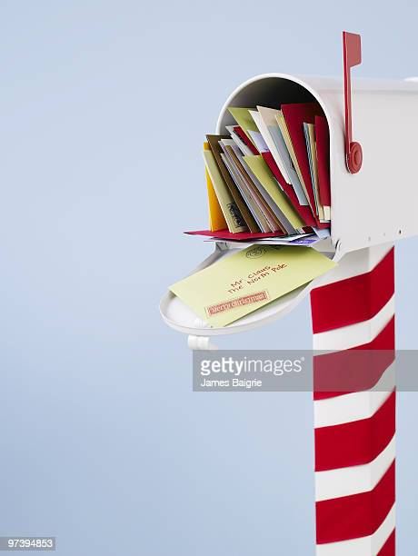 Mailbox full of letters to Santa Claus