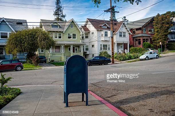 mailbox in residental neighborhood - oakland california stock pictures, royalty-free photos & images