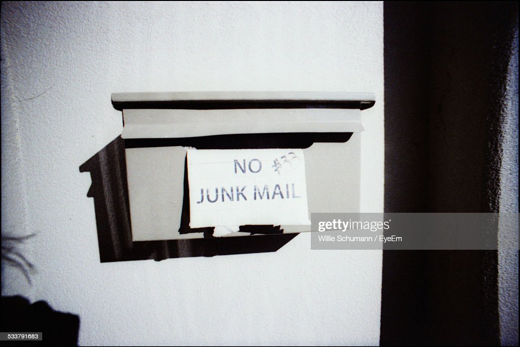 Mailbox On Wall : Foto stock