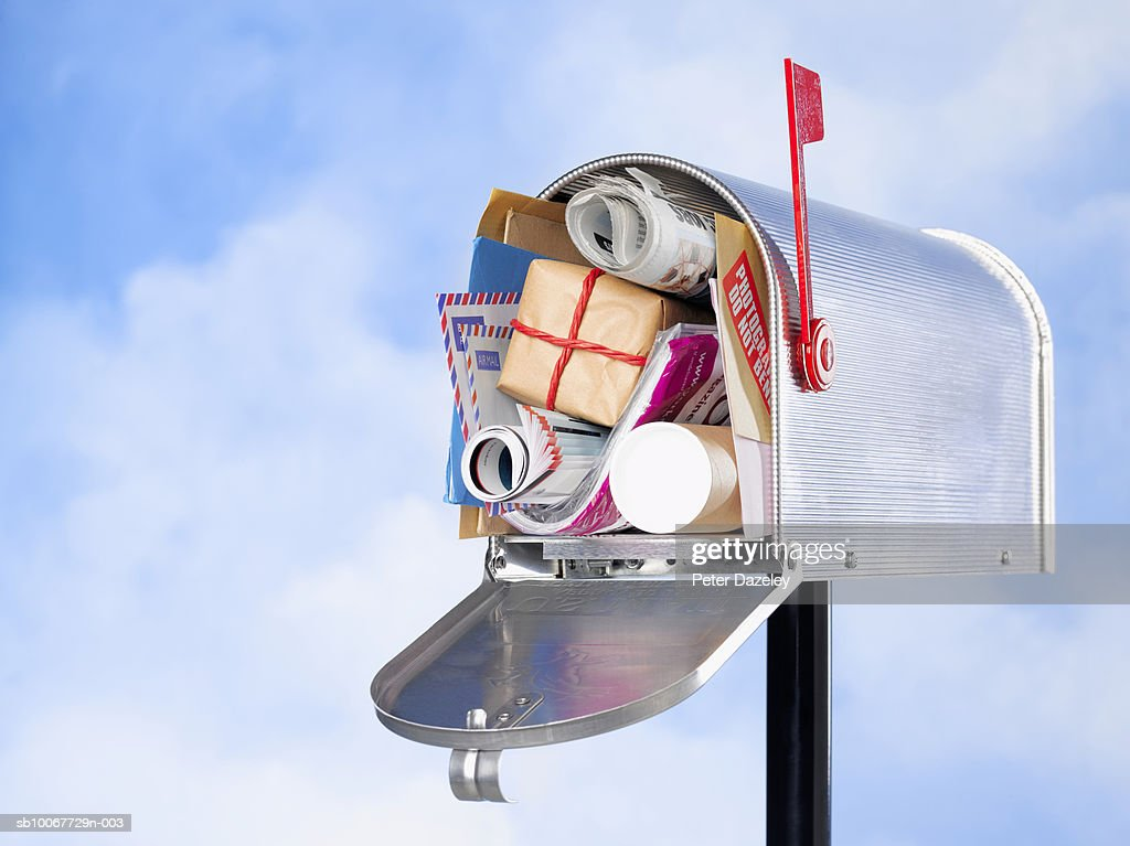 Us Mailbox With Christmas Gifts And Mail Closeup Stock Photo   Getty ...