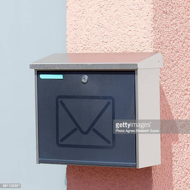 Mailbox with mail symbol square