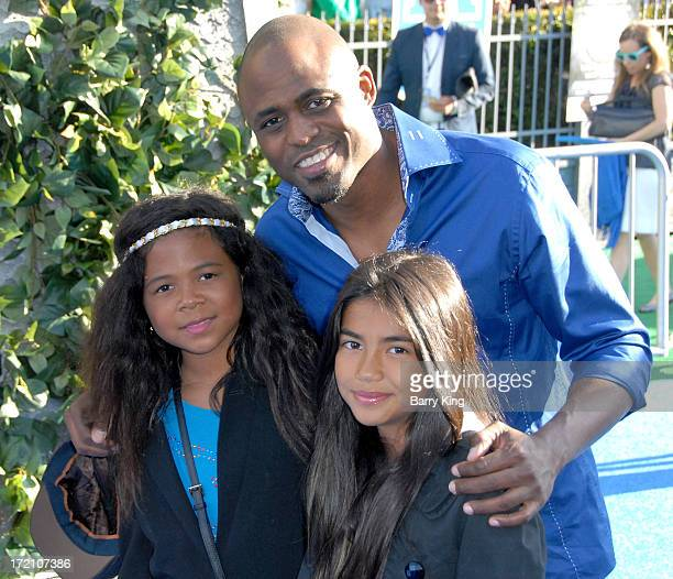 Maile Masako Brady actor Wayne Brady and guest arrive at the Los Angeles Premiere 'Monsters University' at the El Capitan Theatre on June 17 2013 in...