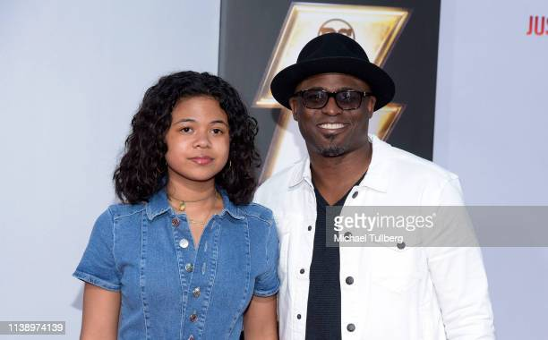 Maile Masako Brady and Wayne Brady attends the world premiere of Shazam at TCL Chinese Theatre on March 28 2019 in Hollywood California
