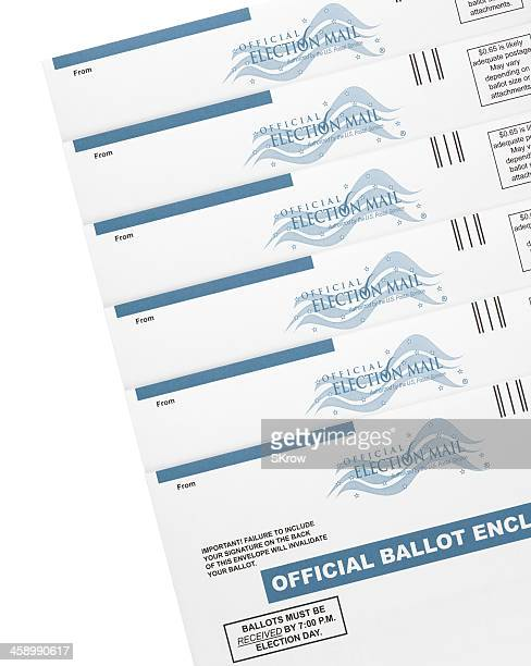 mail-in ballots - absentee ballot stock pictures, royalty-free photos & images