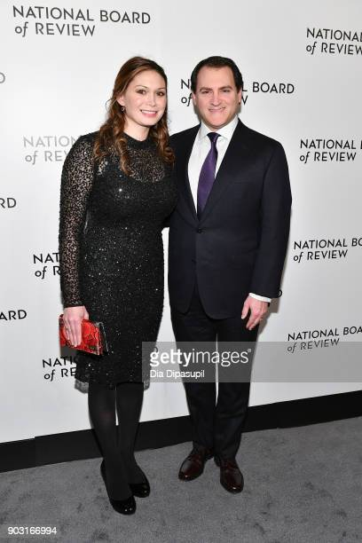 Mai-Linh Lofgren and Michael Stuhlbarg attend the 2018 National Board of Review Awards Gala at Cipriani 42nd Street on January 9, 2018 in New York...