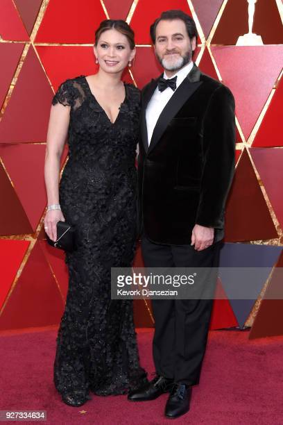 MaiLinh Lofgren and Michael Stuhlbarg attend the 90th Annual Academy Awards at Hollywood Highland Center on March 4 2018 in Hollywood California