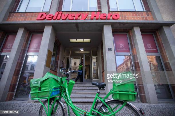 A mailman arrives at the Delivery Hero AG headquarter offices in Berlin Germany on Friday Dec 8 2017 Delivery Hero competes with appbased takeout...