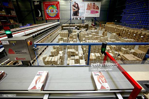 Mailorder center of the company Scala on behalf of the erotic company Beate Uhse AG Ordered goods are being transported on conveyor belts