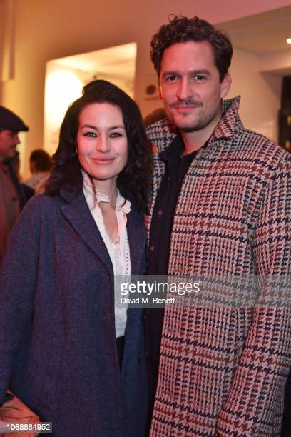 Maimie McCoy and Ben Aldridge attend the press night after party for A Christmas Carol at The Old Vic Theatre on December 5 2018 in London England