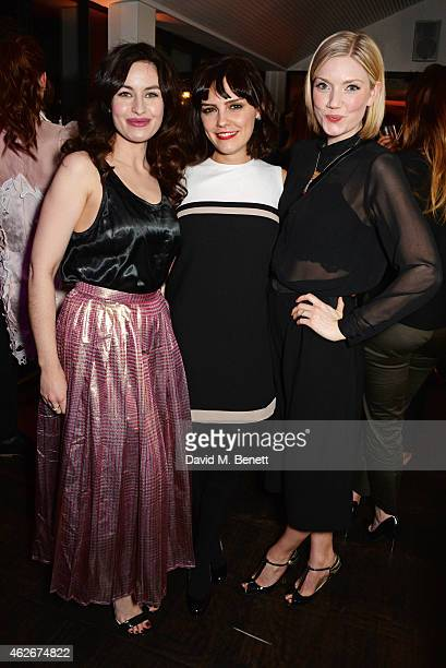 Maimie McCoy Annabel Scholey and Robyn Addison attends the InStyle and EE Rising Star Party in association with Lancome Karen Millen and Sky Living...
