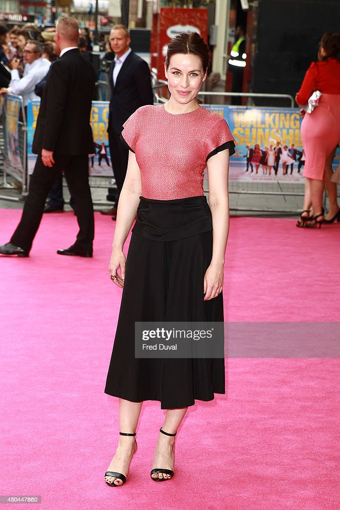 Maimie McCoy attends the UK Premiere of 'Walking On Sunshine' at Vue West End on June 11, 2014 in London, England.