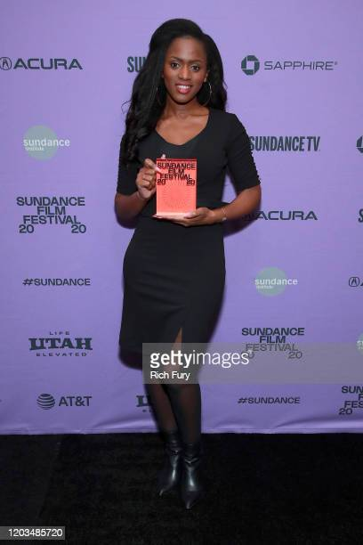 Maimouna Doucoure speaks onstage during the 2020 Sundance Film Festival Awards Night Ceremony at Basin Recreation Field House on February 01 2020 in...