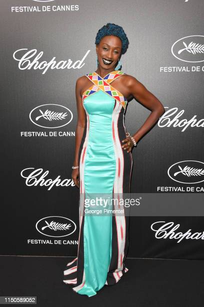 Maimouna N'Diaye attends the The Chopard Trophy event during the 72nd annual Cannes Film Festival on May 20 2019 in Cannes France
