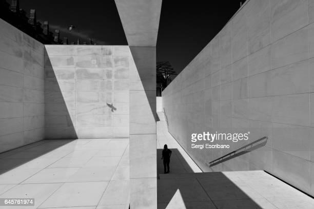Main access of CaixaForum museum in Barcelona, Catalonia-Spain