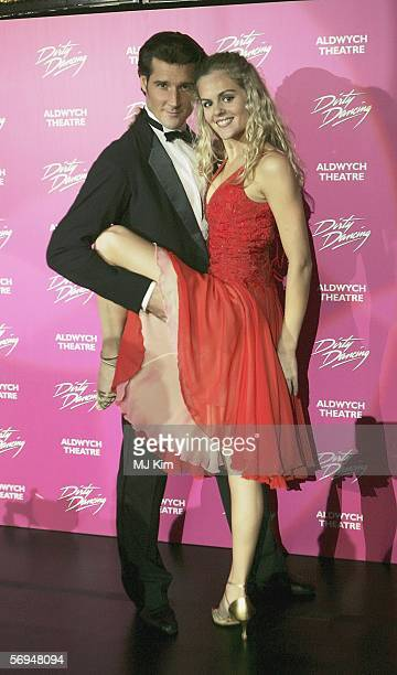 Main actors from Austrailian version of musical Dirty Dancing Joseph Brown and Nadia Coote attend the launch party for the West End opening of the...