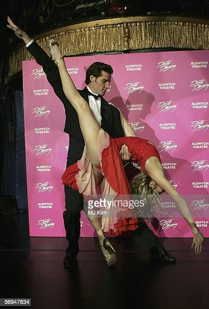 Main actors from Australian version of musical Dirty Dancing Joseph Brown and Nadia Coote attend the launch party for the West End opening of the...