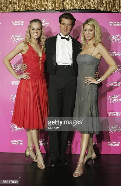 Main actors from Australian version of musical Dirty Dancing Joseph Brown Nadia Coote and TV presenter Tess Daly attend the launch party for the West...