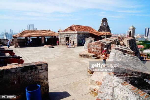 Main Area of the Castillo San Felipe, People, Cartagena, Colombia